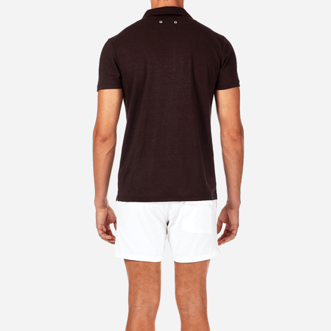 Vilebrequin - Solid Linen jersey polo - 6