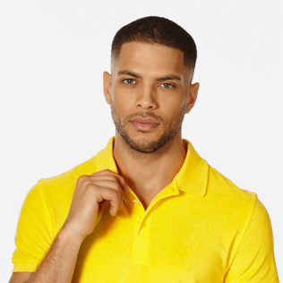 Men Others Solid - Men Terry Cloth Polo Shirt Solid, Citron supp1