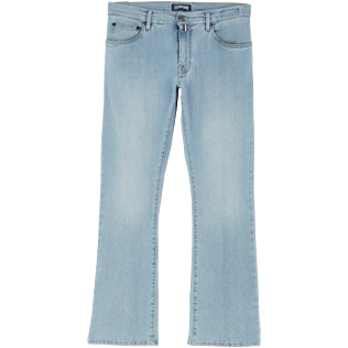 Men Others Solid - Men 70s Flare Jeans, Bleach denim w4 front