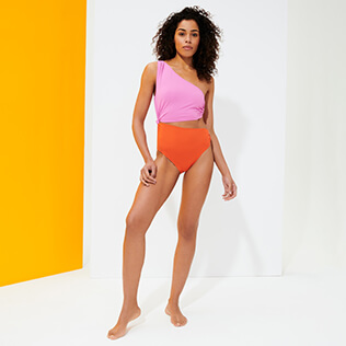 Women Triangle Solid - Women Asymmetric One piece Swimsuit Ring & Opening, Mumbai supp3