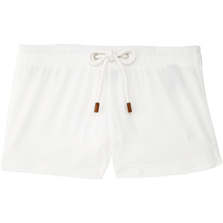 Women Shorties Solid - Women Terry Cloth Shortie Solid, White front