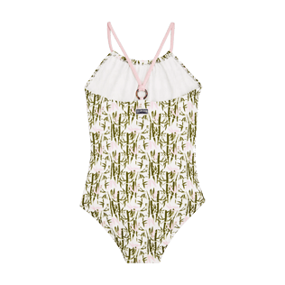 Girls Others Printed - Girls One Piece Swimsuit Bamboo Song, Peony back