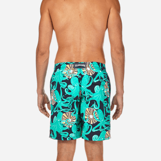 Men Long Printed - Octopussy et Coquillages Long Cut Swim shorts, Navy supp2