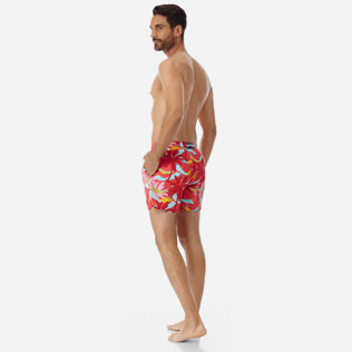 Men Classic Printed - Men Swimwear Ibiza, Hibiscus backworn