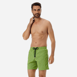 Men Stretch classic Printed - Men Stretch swimtrunks St Barth, Cactus frontworn