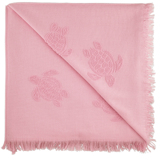 Towels Solid - Fouta with fringes Turtles pattern, Peony back