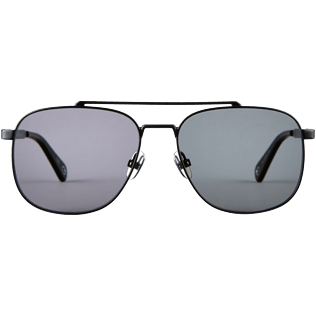 Sunglasses Solid - Unisex Sunglasses Polarised Smoke Matt, Black front