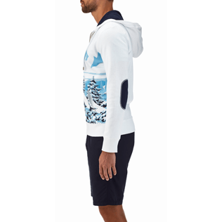 Men 008 Printed - Ski Resort Hoody fleece sweater, White supp1