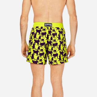 Men Classic Printed - Men Swimwear Flocked Happy Monkey, Chartreuse supp2