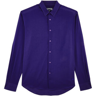 Men Others Solid - Unisex Cotton Shirt Solid, Amethyst front