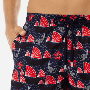 Men Ultra-light classique Printed - Men Ultra-Light and packable Swimwear Hong Kong, Navy supp1