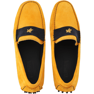 Men Others Solid - Men Very soft Daim Loafers Solid, Mango front