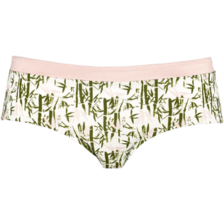 Women Bottoms Printed - Women Covering Bikini Bottom Bamboo Song, Peony front
