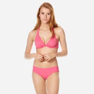 Women Underwire Solid - Women bikini Top with underwires Ecailles de Tortue, Cherry blossom frontworn