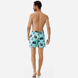 Men Classic Printed - Men swimtrunks Joker Queen, Aquamarine backworn