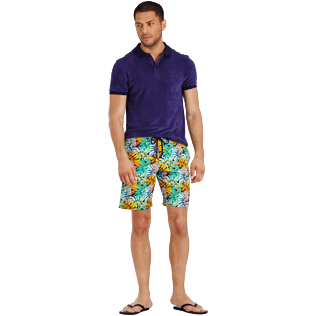 Men Long classic Printed - Men Swimwear Long Stretch Jungle, Midnight blue supp2