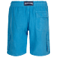 Men 111 Solid - Men Linen Bermuda Shorts cargo pockets, Star anise back