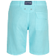 Men Others Solid - Men straight Linen Bermuda Shorts Solid, Lazulii blue back