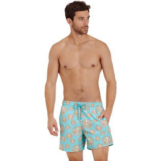 Men Classic Printed - Men Swimwear Poulpes, Lagoon frontworn