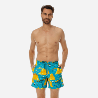 Men Classic Printed - Men swimtrunks Capri, Seychelles frontworn