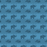 男款 Classic 神奇 - 男士 Elephants Bathroom 遇水变色泳裤, Jaipuy pattern