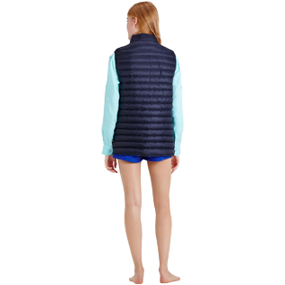 Others Printed - Unisex Sleeveless Down Jacket Herringbones Turtles, Navy supp4