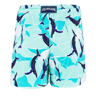 Men Classic / Moorea Printed - Men Stretch Swimtrunks Magic Whales, Lagoon back