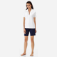 Women Others Solid - Women Terry cloth Polo Shirt Solid, White frontworn
