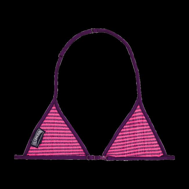 Vilebrequin - Girls Bikini Top in Terry Cloth Striped - 2
