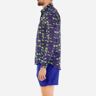 Others Printed - Unisex Linen Jersey Shirt Eels Knitting, Wasabi supp8