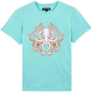 Men Others Printed - Men Cotton T-Shirt Octopussy, Lagoon front
