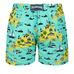 Men Classic Printed - Men swimtrunks Martha's Vineyard, Mint back
