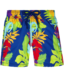 Boys Others Printed - Boys Swim Trunks Les Geckos, Batik blue front