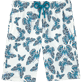 Men Long Printed - Butterflies Superflex long cut Swim shorts, Azure front