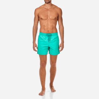 Men Classic Printed - Water-reactive Sardines à l'Huile Swim shorts, Veronese green frontworn