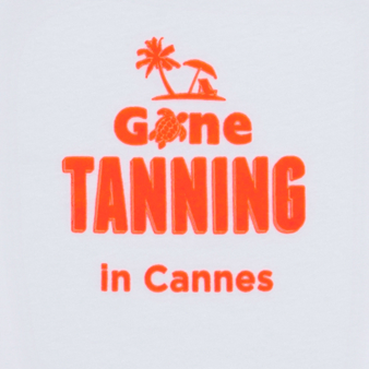 男童 Gone Tanning in Cannes印字T恤, White pattern