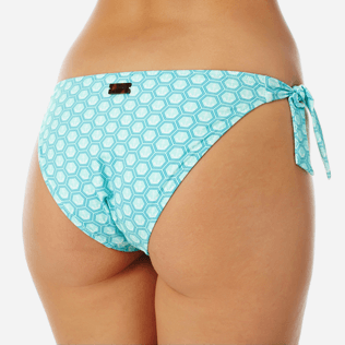 Women Classic brief Printed - Women brief to be tied bikini Bottom Ancre De Chine, Mint supp1