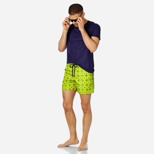 Men Embroidered Embroidered - Men Swimwear Embroidered Squad Turtles - Limited Edition, Chartreuse supp2