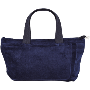 Others Solid - Beach Pouch in Terry Cloth Solid Jacquard, Navy back