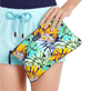 Altri Stampato - Zipped Beach Pouch Jungle, Midnight blue front