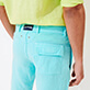 Men Others Solid - Men straight Linen Bermuda Shorts Solid, Lazulii blue supp1