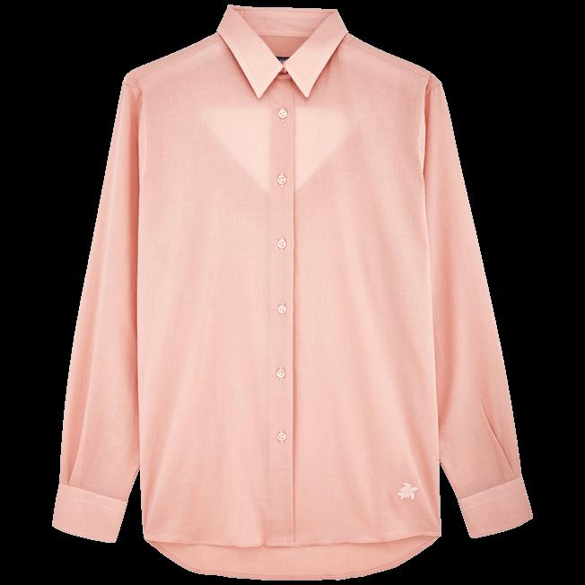 Vilebrequin - Chemise dos nu en Voile de Coton Femme Unie - 1