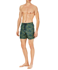 Men Embroidered Embroidered - Men Swim Trunks Embroidered Hypnotic Turtles - Limited Edition, Spray frontworn