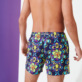 Men Stretch classic Printed - Men Stretch Short Swim Trunks Kaleidoscope, Sapphire backworn
