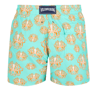Men Classic Printed - Men Swim Trunks Poulpes, Lagoon back