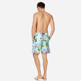 Hombre Clásico largon Estampado - Bañador largo con estampado Watercolor Turtles para hombre, Acqua backworn