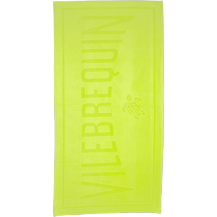 Towels Solid - Beach Towel in Terry Cloth Solid Jacquard, Lemongrass front