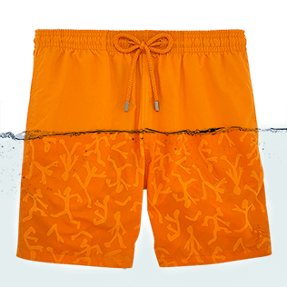 Men Classic / Moorea Printed - Water-reactive Danse du feu Swim shorts, Papaya front