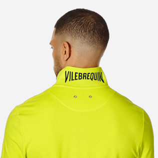 Men Others Solid - Men Cotton Polo Shirt Solid, Chartreuse supp1