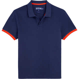 Uomo Altri Unita - Polo in piquet di cotone, Navy / red front